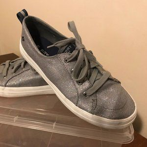 Silver Sparkle Sperry Sneakers
